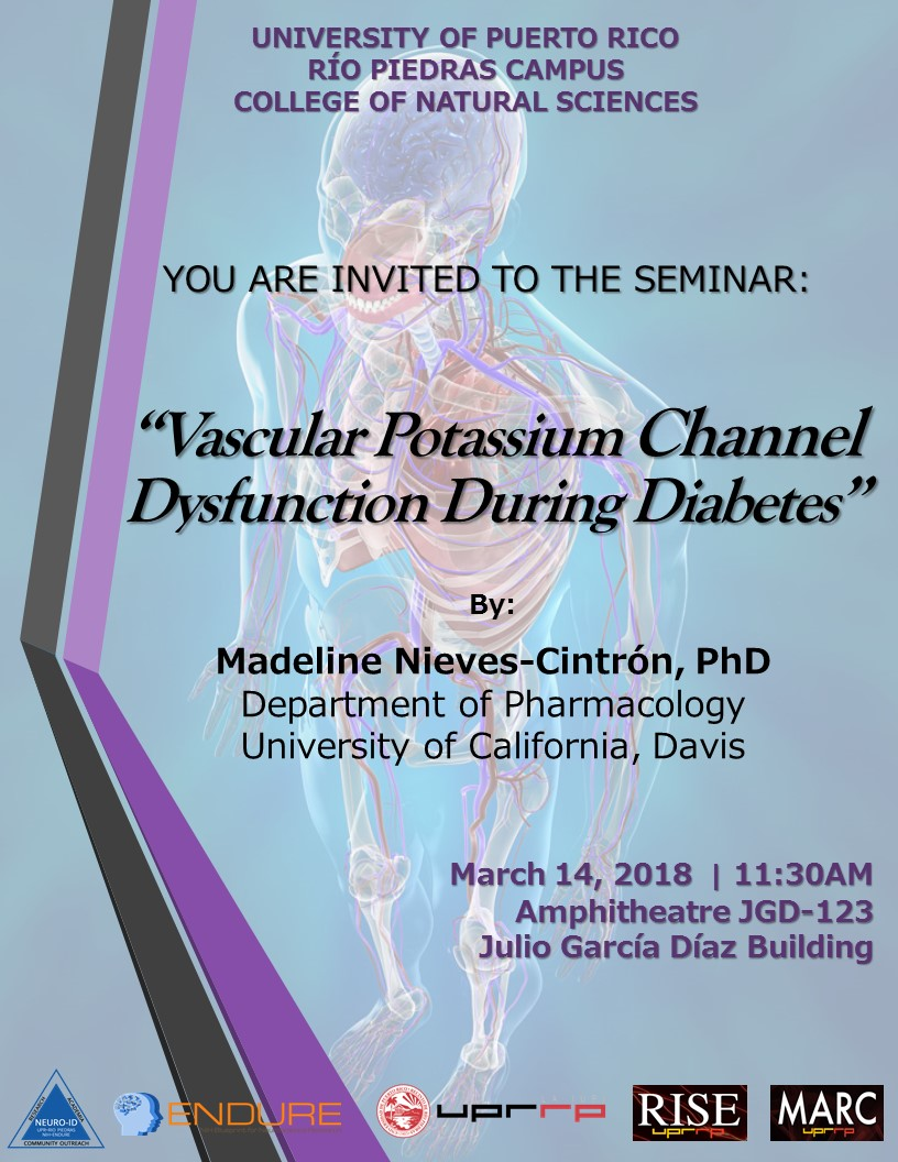 SEMINAR - DR. MADELINE NIEVES - MARCH 14, 2018